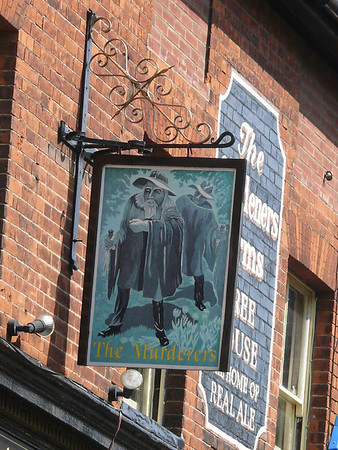 Pub Sign - The Murderers, Timberhill, Norwich 110611