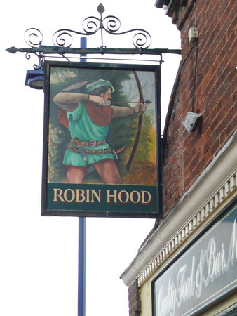 Pub Sign - Robin Hood, Station Road, Sheringham 110616