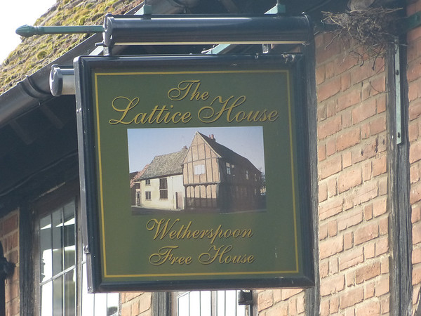 Pub Sign - The Lattice House, Chapel Street, Kings Lynn 130825
