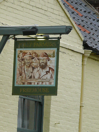 Pub Sign - The Jolly Farmers, Burnham Road, North Creake 110904
