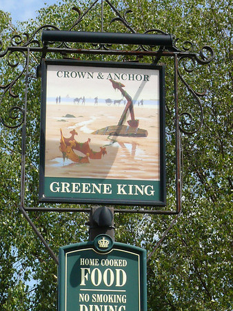 Pub Sign - Crown & Anchor, Wiggenhall St Germans 110614