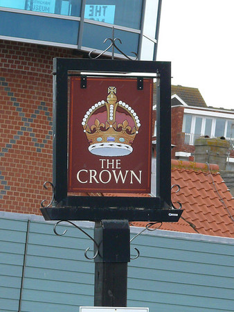 Pub Sign - The Crown, Promenade, Sheringham 110616