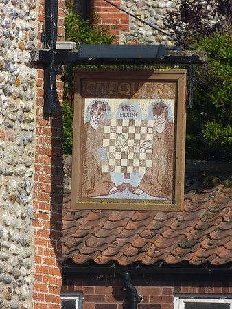 Pub Sign - Chequers, Front Street, Binham 130828