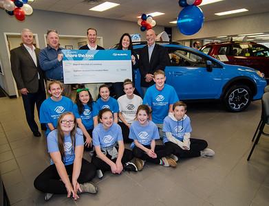 North End Subaru donation to Boys & Girls Club