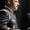 Army Lt. Col. Andrew Ulrich delivers his keynote address during the Broomfield Veteran's Memorial Museum's annual Veterans Day ceremony at Broomfield High School on Friday.<br /> <br /> <br /> November 11, 2011<br /> staff photo/ David R. Jennings