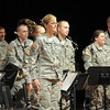 The 101st Army National Guard Band stands at attention after their performance at the Broomfield Veteran's Memorial Museum's annual Veterans Day ceremony at Broomfield High School on Friday.<br /> <br /> November 11, 2011<br /> staff photo/ David R. Jennings