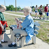 Alex Richards, 8, left, and his grand mother Karen England take a water break with their dog Rascal during the 11th Annual Trail Adventure in the Westlake neighborhood on Saturday.<br /> June 2, 2012 <br /> staff photo/ David R. Jennings