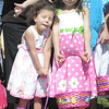 Alondra Chavez, 3, left, and her sister Alexandra, 5, wait to begin collecting eggs and candy during the 18th Annual Eggstravaganza Egg Scramble at John Shaw Field in Community Park on Saturday.<br /> April 7, 2012 <br /> staff photo/ David R. Jennings