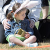 Elyssa Senff, 4, waits on the edge of the 3-4 year old square during the 18th Annual Eggstravaganza Egg Scramble at John Shaw Field in Community Park on Saturday.<br /> April 7, 2012 <br /> staff photo/ David R. Jennings