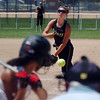 Alicis Hernandez, one of the Colorado Stars pitchers, throws against Kansas City Glory during 2011 the Colorado Fireworks Softball Tournament 12U softball championship game at Community Park on Monday.<br /> <br /> July 4, 2011<br /> staff photo/ David R. Jennings