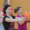 Dawn Keating does an exercise with her pumpkin during the Great Pumpkin Workout at the Paul Derda Recreation Center on Thursday.<br /> October 25, 2012<br /> staff photo/ David R. Jennings