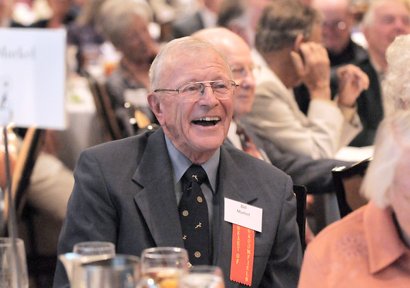 Heart of Broomfield Philanthropy winner Dr. Bill Markel laughs during the  2012 Heart of Broomfield Award ceremony at the Omni Interlocken Resort on Monday.<br /> <br /> <br /> April 9, 2012 <br /> staff photo/ David R. Jennings