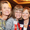 Heart of Broomfield Arts winner Fran Milner, right, poses with her friends Debby Middel-Katzenmeyer, left, and Wendy Fiedler after the  2012 Heart of Broomfield Award ceremony at the Omni Interlocken Resort on Monday.<br /> <br /> <br /> April 9, 2012 <br /> staff photo/ David R. Jennings