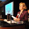 Heart of Broomfield Arts winner Fran Milner gives her acceptance speech during the  2012 Heart of Broomfield Award ceremony at the Omni Interlocken Resort on Monday.<br /> <br /> <br /> April 9, 2012 <br /> staff photo/ David R. Jennings