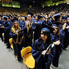 The class of 2012 stands to honor thier parents a relatives during Legacy High School's graduation ceremony at Coors Event Center at the University of Colorado on Monday.<br /> <br /> May 14, 2012 <br /> staff photo/ David R. Jennings