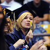 Some graduates blew bubbles in celebration during Legacy High School's graduation ceremony at Coors Event Center at the University of Colorado on Monday.<br /> <br /> May 14, 2012 <br /> staff photo/ David R. Jennings