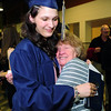 Devin Roberts is hugged by her grandmother Carol Grimmig after  Legacy High School's graduation ceremony at Coors Event Center at the University of Colorado on Monday. Roberts is going to serve in the U.S. Air Force.<br /> <br /> May 14, 2012 <br /> staff photo/ David R. Jennings
