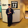 Austin Clements waits for Legacy High School's graduation ceremony to begin at Coors Event Center at the University of Colorado on Monday.<br /> <br /> May 14, 2012 <br /> staff photo/ David R. Jennings