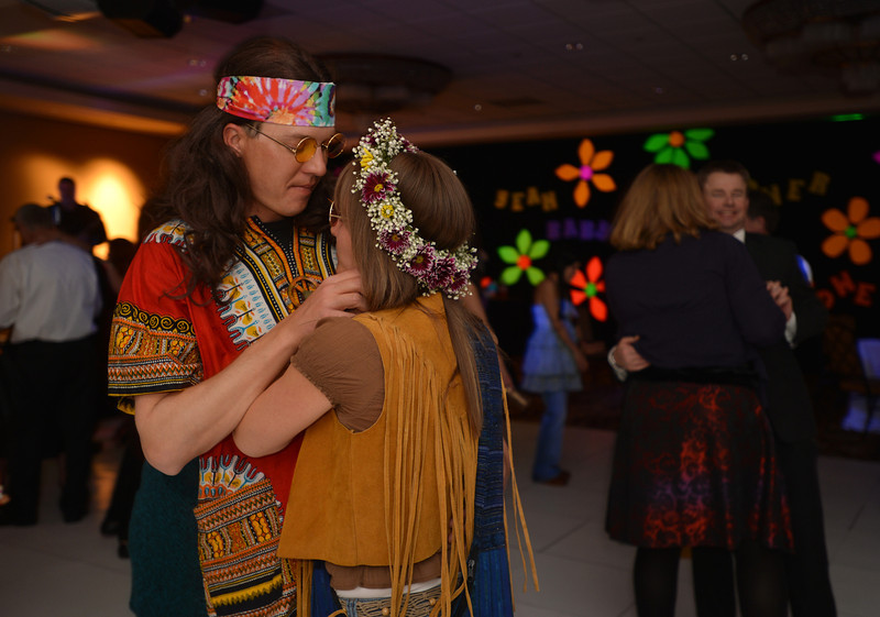 "Chad and Sara Pringle slow dance during the 48th annual Bal Swan Ball with the 1960's theme of ""Peace, Love and Bal Swan"" at the Omni Interlocken Hotel Resort on Saturday.<br /> March 2, 2013<br /> staff photo/ David R. Jennings"