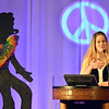"""Bal Swan development director Sunny Justice spoke to the audience during the 48th annual Bal Swan Ball with the 1960's theme of """"Peace, Love and Bal Swan"""" at the Omni Interlocken Hotel Resort on Saturday.<br /> March 2, 2013<br /> staff photo/ David R. Jennings"""