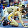 Broomfield's Drew Romero wrestles Windsor's Joel Salomon in the 113 pound weight class in the championship match at Centaurus High  on Saturday.<br /> January 26, 2013<br /> staff photo/ David R. Jennings