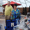 Sam and Barbara Bade look at silent acton items during the 3rd annual Eagle Sports Gala for Broomfield High School Athletics at the Church Ranch Event Center on Friday.<br /> March 16,  2012 <br /> staff photo/ David R. Jennings