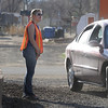Broomfield High softball player Karli Hughes helps park cars for the 3rd annual Eagle Sports Gala for Broomfield High School Athletics at the Church Ranch Event Center on Friday.<br /> March 16,  2012 <br /> staff photo/ David R. Jennings