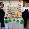 Pro Start student s Connor Bary , elft and Peri Hicks stand by the dessert table during the 3rd annual Eagle Sports Gala for Broomfield High School Athletics at the Church Ranch Event Center on Friday.<br /> March 16,  2012 <br /> staff photo/ David R. Jennings