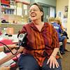 Nora Longmire has her blod presure checked by volunteer Diane Spencer-Herro during the 9Health Fair at Broomfield United Methodist Church on Saturday.<br /> <br /> April 21, 2012 <br /> staff photo/ David R. Jennings