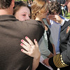 Juliet Faughnan, 14 is hugged by her uncle Michael Faughnan after the 9/11 Commemorative Ceremony at the 9/11 Memorial in Community Park on Sunday.<br /> September 11, 2011<br /> staff photo/ David R. Jennings