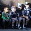 Cub Scouts from Pack 606 listen to Joshua Miller tell his story of his friend Deora Bodley, who died on flight 93, at the 9/11 Memorial in Community Park on Sunday.<br /> September 11, 2011<br /> staff photo/ David R. Jennings