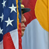 Broomfield Police Honor Guard posts the colors during the 9/11 ceremony at the 9/11 Memorial at Community Park on Tuesday.<br /> September 11, 2012<br /> staff photo/ David R. Jennings
