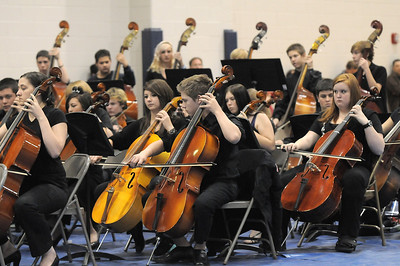 The High School Concert Orchestra perform during the Adams 12 Five Stars Schools Orchestra Festival at Legacy High School on Saturday. For more photos please see broomfieldenterprise.com. December 3, 2011 staff photo/ David R. Jennings