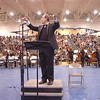 Steven Burchard, conducts the combined orchestras of 510 players in the Can-Can for the Adams 12 Five Stars Schools Orchestra Festival at Legacy High School on Saturday.<br /> For more photos please see broomfieldenterprise.com.<br /> December 3, 2011<br /> staff photo/ David R. Jennings