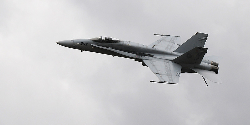 The Navy F-18 performs at Saturday's Colorado Sport International Airshow at Rocky Mountain Metropolitan Airport.<br /> August 28, 2010<br /> staff photo/David R. Jennings
