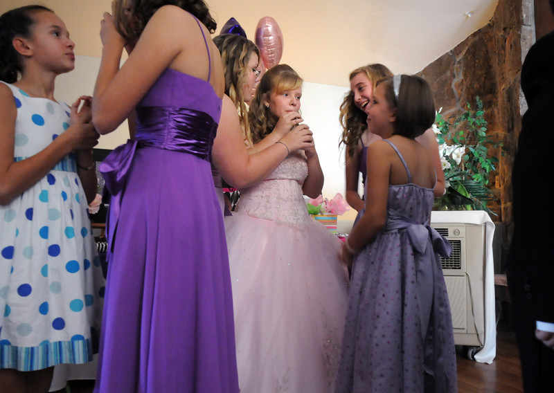 Antonia Ramirez, 15, has a soft drink with her friends before her  Quinceanera ceremony at the Miramonte Lodge<br /> <br /> September 4, 2010<br /> staff photo/David R. Jennings