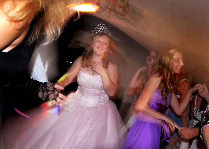 Antonia Ramirez dances with friends a family during her Quinceanera at the Miramonte Lodge on Saturday.<br /> <br /> September 4, 2010<br /> staff photo/David R. Jennings