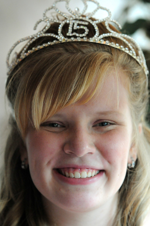 Antonia Estes Ramirez wearing her tiara during her Quinceanera ceremony.<br /> <br /> September 4, 2010<br /> staff photo/David R. Jennings