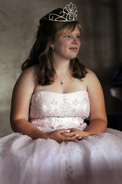 Antonia Estes Ramirez during her Quinceanera ceremony.<br /> <br /> September 4, 2010<br /> staff photo/David R. Jennings