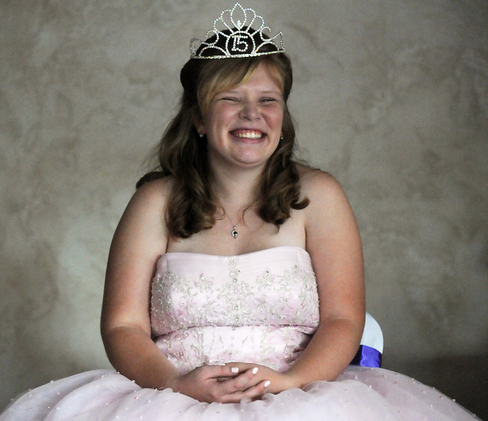 Antonia Estes Ramirez is all smiles during her Quinceanera ceremony at the Miramonte Lodge on Saturday.<br /> <br /> September 4, 2010<br /> staff photo/David R. Jennings