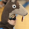 Second grade teacher Jaclyn Workman, dressed as a coyote, Aspen Creek's  mascot , during school's 10th anniversary celebration assembly on Friday.<br /> May 21, 2010<br /> Staff photo/ David R. Jennings