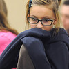 Sixth grader Ashley Fleming contemplates a question during Broomfield Heights Middle School geography bee  on Tuesday.<br /> December 8, 2009<br /> Staff photo/David R. Jennings