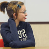Sixth grader Ashley Fleming reacts after correctly answering a question during Broomfield Heights Middle School geography bee  on Tuesday.<br /> December 8, 2009<br /> Staff photo/David R. Jennings