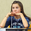 Eighth grader Kat Heboa contemplates a question during Broomfield Heights Middle School geography bee  on Tuesday.<br /> December 8, 2009<br /> Staff photo/David R. Jennings