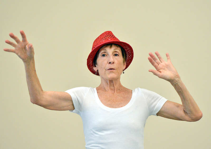 "Karen Shanley rehearses "" Flashback""  for the Adult Community of the School of Ballet Nouveau Colorado Showcase on Saturday.<br /> July 14, 2012<br /> staff photo/ David R. Jennings"
