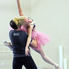 Sarah Tallman and David Barbour rehearse the Sugar Plum Fairy dance for Ballet Nouveau Colorado's production of The Nutcracker at BNC on Wednesday.<br /> December 2, 2009<br /> Staff photo/David R. Jennings