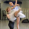 Colby Foss, left, and Julie King rehearse the Snow Queen dance for  Ballet Nouveau Colorado's production of The Nutcracker at BNC on Wednesday.<br /> December 2, 2009<br /> Staff photo/David R. Jennings