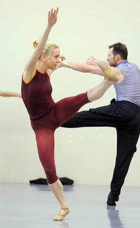 "Sarah Tallman and Brandon Freeman dance together during rehearsal of Ballet Nouveau Colorado's Love in the Digital Age on Saturday.<br /> For more photos please see  <a href=""http://www.broomfieldenterprise.com"">http://www.broomfieldenterprise.com</a><br /> January 21, 2012<br /> staff photo/ David R. Jennings"