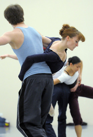 "Julia Meng dances with Corbin Kalinowski during rehearsal of Ballet Nouveau Colorado's Love in the Digital Age on Saturday.<br /> For more photos please see  <a href=""http://www.broomfieldenterprise.com"">http://www.broomfieldenterprise.com</a><br /> January 21, 2012<br /> staff photo/ David R. Jennings"