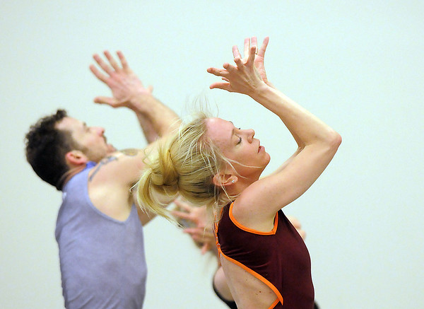 "Sarah Tallman, right, and Brandon Freeman gesture for a dance during rehearsal of Ballet Nouveau Colorado's Love in the Digital Age on Saturday.<br /> For more photos please see  <a href=""http://www.broomfieldenterprise.com"">http://www.broomfieldenterprise.com</a><br /> January 21, 2012<br /> staff photo/ David R. Jennings"